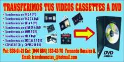 transferimos tus videos cassettes a dvd en tijuana