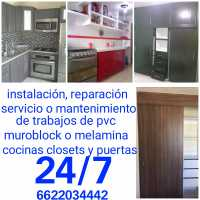 Instalador de cocinas y closets. También Servicio reparación y mantenimiento en sonora.