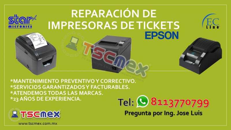 Reparación de Impresoras de Tickets