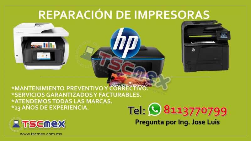 Reparación de Impresoras HP