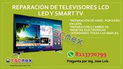 Mantenimiento de Televisores LCD, LED y SMART TV